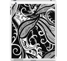 Forest Floor Aussie Tangle 019 in Black with Transparent Background iPad Case/Skin
