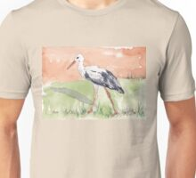 White Stork (Ciconia ciconia) Unisex T-Shirt