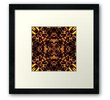 """""""Spirit of India: Blossom"""": Golden Fire Framed Print"""