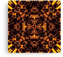 """Spirit of India: Blossom"": Golden Fire Canvas Print"