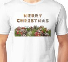 Merry Christmas With Decorative Wreath Unisex T-Shirt