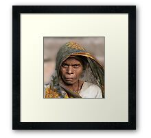 The Look Of India Framed Print