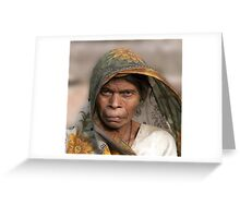 The Look Of India Greeting Card
