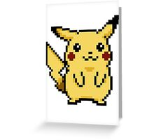 Pikachu Pokemon Yellow Edition Greeting Card