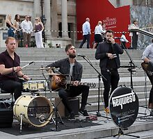 Keywest performs at the Mayor of London Sadiq Khan Launch of International Busking Day by Keith Larby