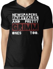 Newspapers. Fairytales. Mens V-Neck T-Shirt