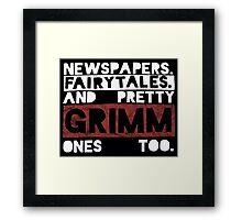 Newspapers. Fairytales. Framed Print