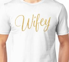 Wifey Gold Sequins Bachelorette Party Gifts Unisex T-Shirt