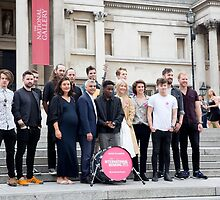 The Mayor of London, Sadiq Khan, launches International Busking Day in Trafalgar Square by Keith Larby