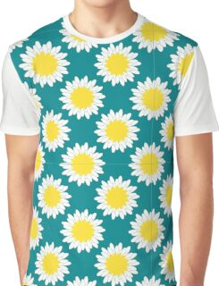 Camomile Pattern Graphic T-Shirt