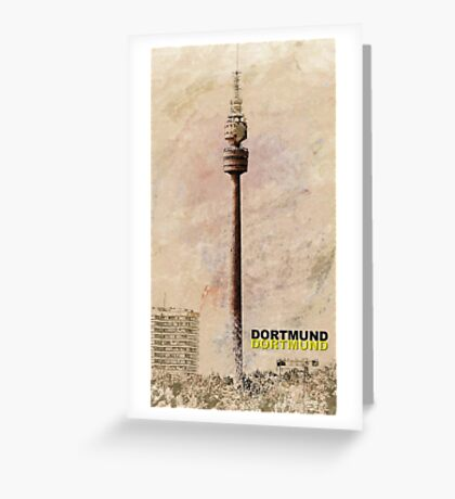 Dortmund TV Tower Florianturm Greeting Card