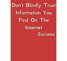 Socrates quote Photographic Print