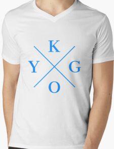 Kygo Blue Mens V-Neck T-Shirt