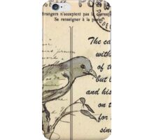 Why the caged bird sings iPhone Case/Skin