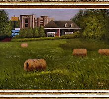 A Little Bit of Country ... with a canvas and framed look by © Bob Hall