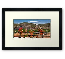 A view from a balcony - Alcalá del Júcar Framed Print