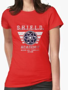Design lilmited tshirt, Shield Academy Womens Fitted T-Shirt