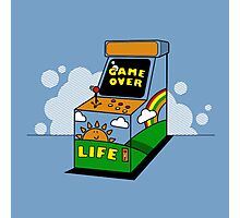 Vintage Arcade Game Over Photographic Print