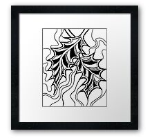 Miniature Aussie Tangle 20 in Black with Transparent Background Framed Print