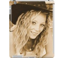 Young cowgirl portrait iPad Case/Skin