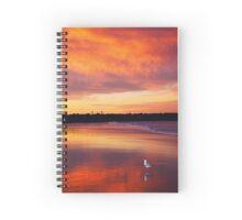 Sunset seagull Spiral Notebook