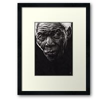 Nelson - Charcoal and Compressed Charcoal on paper Framed Print