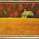 Mountain Autumn ... with a canvas and framed look by © Bob Hall