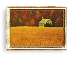 Mountain Autumn ... with a canvas and framed look Canvas Print
