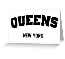 Queens New York Classic Gym Champion Logo Greeting Card