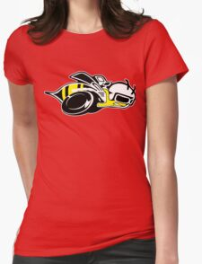Super Bee Logo Bee Motorcycle Womens Fitted T-Shirt