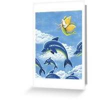 Dolphin Nymph voyages - acrylic painting Greeting Card