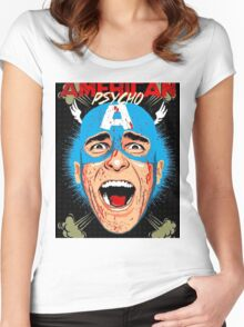 bowie american pyscho Women's Fitted Scoop T-Shirt
