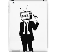 Don't Obey Your Television iPad Case/Skin