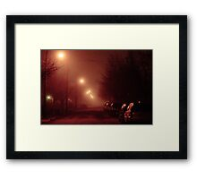 12:01, it's foggy, it's beautiful Framed Print