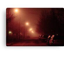 12:01, it's foggy, it's beautiful Canvas Print