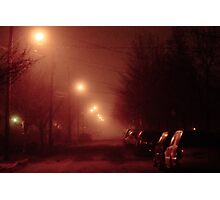 12:01, it's foggy, it's beautiful Photographic Print