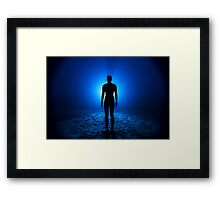 iron man underwater Framed Print