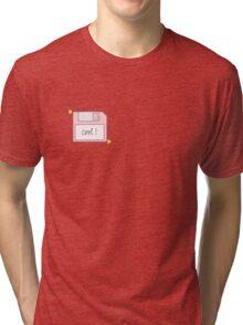 Pink Floppy Disk Tri-blend T-Shirt