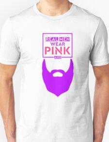 Real Mean Wear Pink & Grow Beard (Purple) Unisex T-Shirt