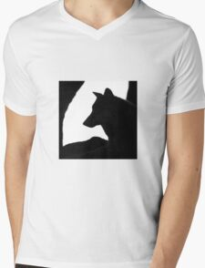 Patient As A Wolf Mens V-Neck T-Shirt