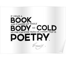 poetry: makes my whole body so cold - emily dickinson Poster