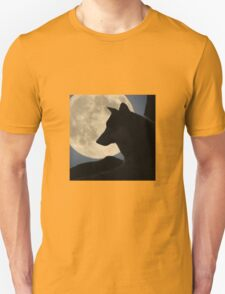 A Wolf in Front of the Moon Unisex T-Shirt