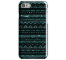 Aztec Black Tinsel Blue iPhone Case/Skin