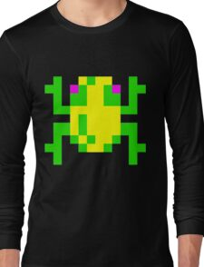 Frogger  Classic Arcade Game 80s Long Sleeve T-Shirt