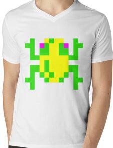 Frogger  Classic Arcade Game 80s Mens V-Neck T-Shirt