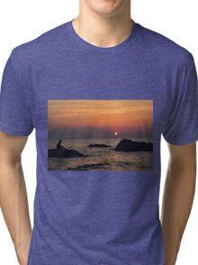 Watching the Sunset  Tri-blend T-Shirt