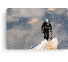 Mountaineer summit Canvas Print