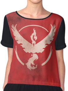 Team Valor grunge Chiffon Top