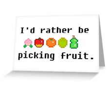 I'd Rather Be Picking Fruit- Animal Crossing Inspired Greeting Card