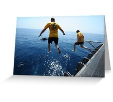 go to swimming Greeting Card
